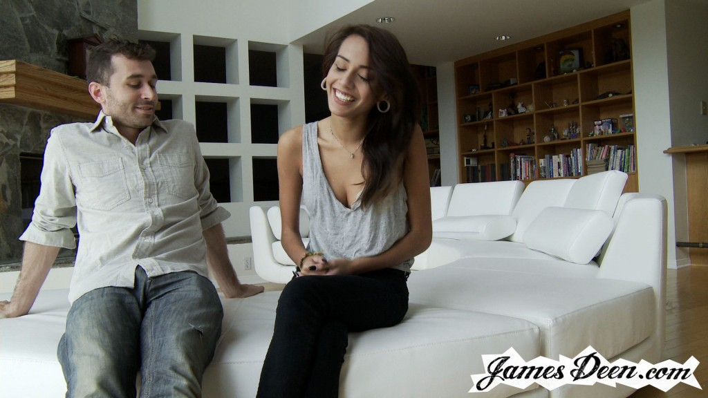 Janice griffith bj on couch next to dad