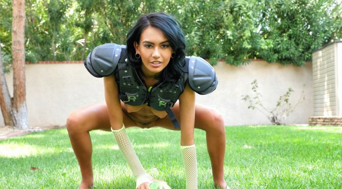 Exotic4k time for football kick off with janice griffith 3